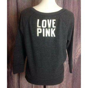 Victoria's Secret Pink Sweatshirt Sz XS 3/4 Sleeve